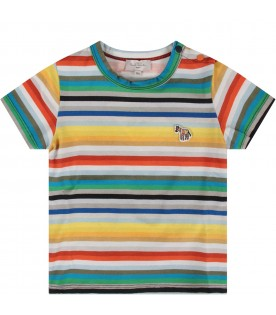 Multicolor babyboy T-shirt with zebra