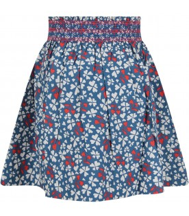 Azure girl skirt with hearts