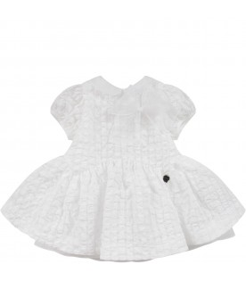White babygirl dress with bow
