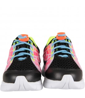 "Black ""Chiara Sneaker'' with neon details"