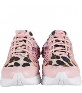 "Pink ""Chiara Sneaker'' with animalier print"