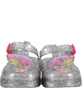 Silver ''Butterflay Jelly'' sandals
