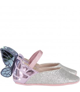 Silver ''Chiara Baby'' flat shoes