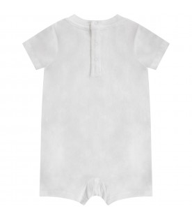 White babykids rompers with Teddy bear