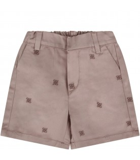 Beige babyboy short with double FF
