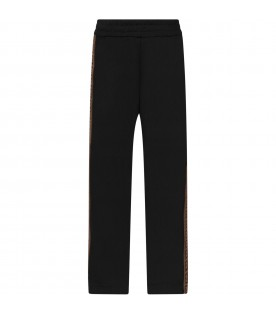 Black girl pants with double FF