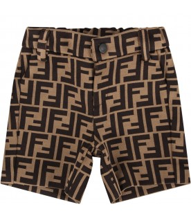 Brown babyboy short with double FF