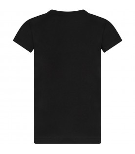 Black girl T-shirt with logo