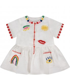 White babygirl dress with red hearts