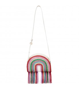 Multicolor girl bag with fringes