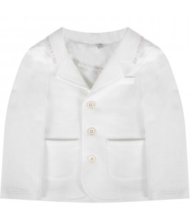 White jacket for baby boy