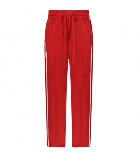 Red girl sweatpants with logo