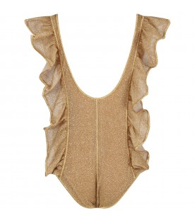Gold swim suit for girl