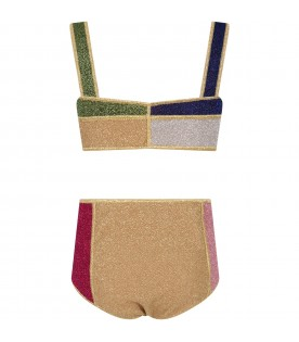 Color block bikini for girl