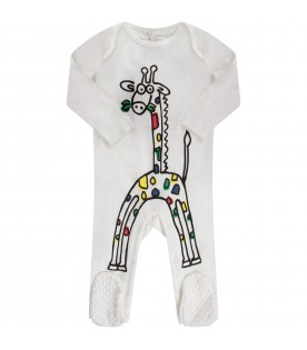 White babykids suit with giraffe
