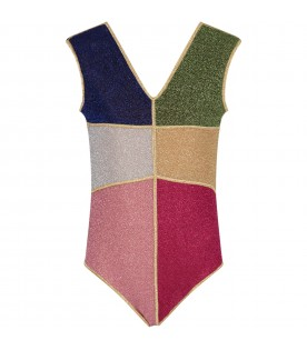 Color block swim suit for girl