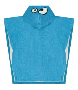 Azure boy towelling robe with monster