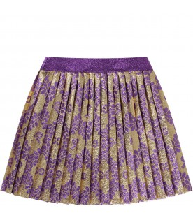 Gold skirt for baby girl with double GG