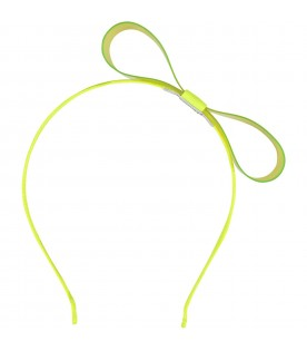 Neon yellow headband for girl