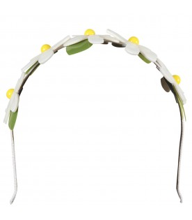 White girl headband with flowers