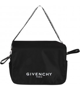 Black babykids bag with white logo