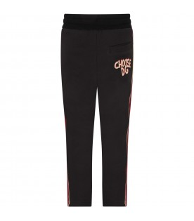Black boy sweatpants with logo