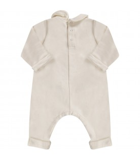 Ivory babygirl babygrow with double GG and apple