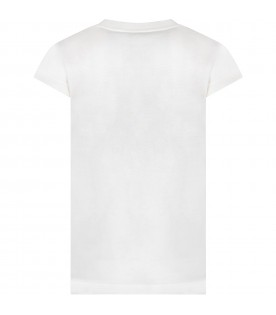 Ivory boy T-shirt with black and white logo