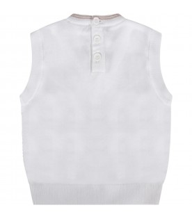 White babyboy vest with iconic eagle