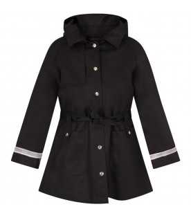 Blue girl coat with logo