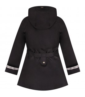 Blue coat for girl with logo