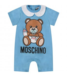 Light blue babyboy rompers with baby Teddy Bear