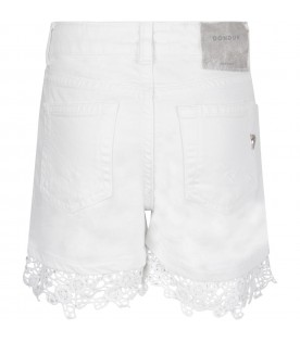 White ''Klum'' girl short with iconic D