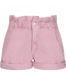 Pink ''Isabel'' girl short with iconic D