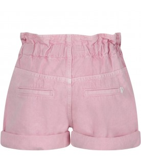 Short ''Isabel'' rosa per bambina con iconica D