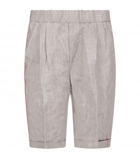 Grey boy short with iconic D