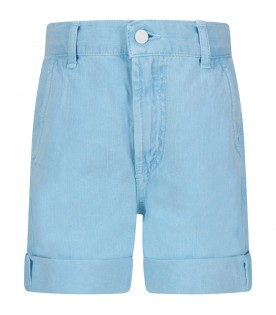 Light blue''Bob'' girl short with iconic D
