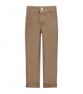 Beige ''Brighton'' pants with iconic D