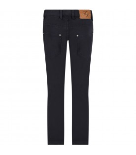 Blue pants for boy with logo