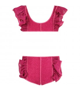 Fuchsia bikini for girl