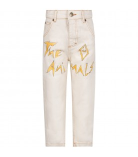 Ivory kids jeans with logo