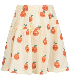 Ivory girl skirt with oranges