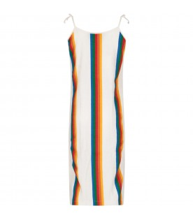 Multicolor girl dress with iconic logo