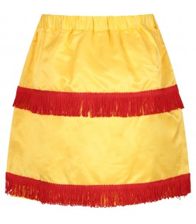 Yellow girl skirt with iconic logo