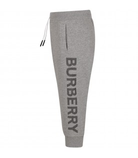 Grey kids sweatpants with logo