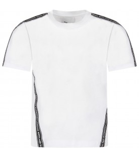 White kids T-shirt with logo