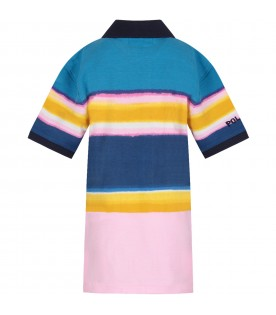 Multicolor boy polo shirt with iconic pony