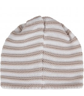 White and beige babykids hat