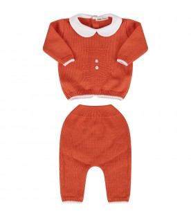 Orange babyboy suit with iconic bear
