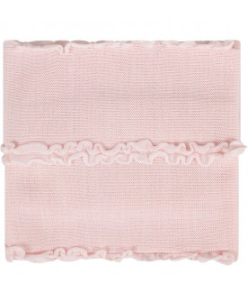 Pink babygirl blanket with ruffles